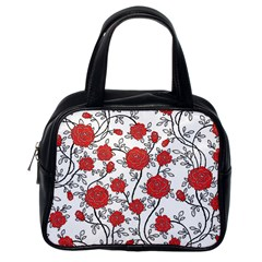 Texture Roses Flowers Classic Handbags (one Side) by BangZart