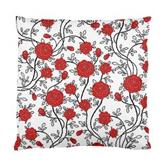 Texture Roses Flowers Standard Cushion Case (one Side)