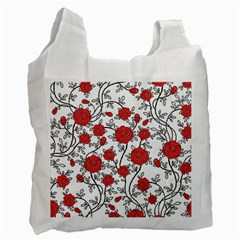 Texture Roses Flowers Recycle Bag (two Side)