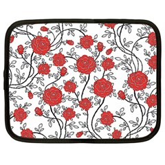 Texture Roses Flowers Netbook Case (xl)
