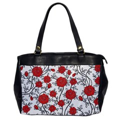Texture Roses Flowers Office Handbags by BangZart