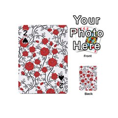 Texture Roses Flowers Playing Cards 54 (mini)
