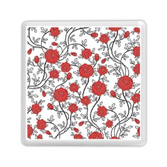 Texture Roses Flowers Memory Card Reader (square)