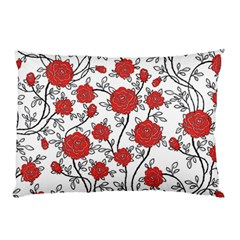 Texture Roses Flowers Pillow Case (two Sides)