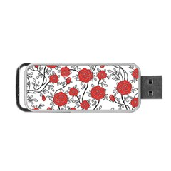 Texture Roses Flowers Portable Usb Flash (two Sides) by BangZart