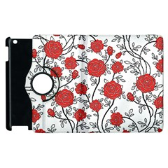 Texture Roses Flowers Apple Ipad 2 Flip 360 Case by BangZart