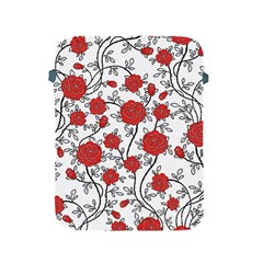 Texture Roses Flowers Apple Ipad 2/3/4 Protective Soft Cases by BangZart