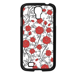 Texture Roses Flowers Samsung Galaxy S4 I9500/ I9505 Case (black) by BangZart