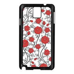 Texture Roses Flowers Samsung Galaxy Note 3 N9005 Case (black)
