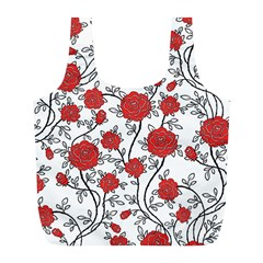 Texture Roses Flowers Full Print Recycle Bags (l)  by BangZart