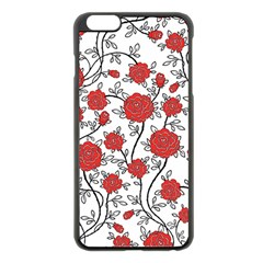 Texture Roses Flowers Apple Iphone 6 Plus/6s Plus Black Enamel Case by BangZart