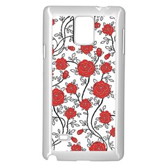 Texture Roses Flowers Samsung Galaxy Note 4 Case (white)