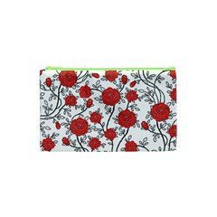 Texture Roses Flowers Cosmetic Bag (xs) by BangZart