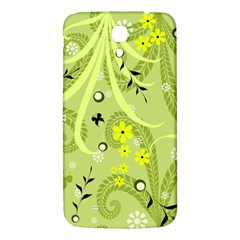 Flowers On A Green Background                      Samsung Galaxy Note 4 Pu Leather Hardshell Back Case by LalyLauraFLM