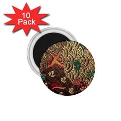 Art Traditional Flower  Batik Pattern 1 75  Magnets (10 Pack)  by BangZart
