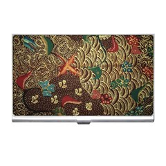 Art Traditional Flower  Batik Pattern Business Card Holders