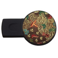 Art Traditional Flower  Batik Pattern Usb Flash Drive Round (4 Gb)