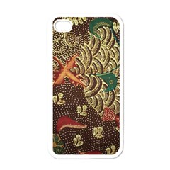 Art Traditional Flower  Batik Pattern Apple Iphone 4 Case (white)