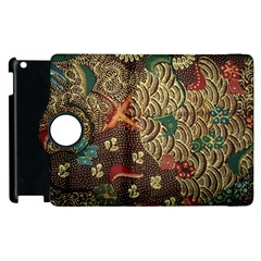 Art Traditional Flower  Batik Pattern Apple Ipad 3/4 Flip 360 Case