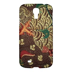 Art Traditional Flower  Batik Pattern Samsung Galaxy S4 I9500/i9505 Hardshell Case by BangZart