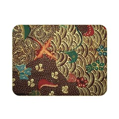 Art Traditional Flower  Batik Pattern Double Sided Flano Blanket (mini)