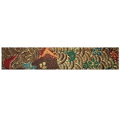 Art Traditional Flower  Batik Pattern Flano Scarf (large)