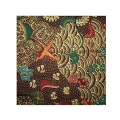 Art Traditional Flower  Batik Pattern Small Satin Scarf (square)