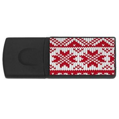 Crimson Knitting Pattern Background Vector Rectangular Usb Flash Drive by BangZart