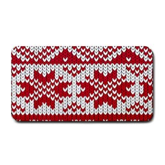 Crimson Knitting Pattern Background Vector Medium Bar Mats by BangZart