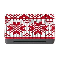 Crimson Knitting Pattern Background Vector Memory Card Reader With Cf by BangZart