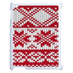 Crimson Knitting Pattern Background Vector Apple Ipad 2 Case (white) by BangZart