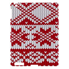 Crimson Knitting Pattern Background Vector Apple Ipad 3/4 Hardshell Case