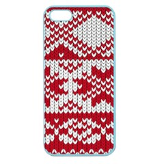 Crimson Knitting Pattern Background Vector Apple Seamless Iphone 5 Case (color)