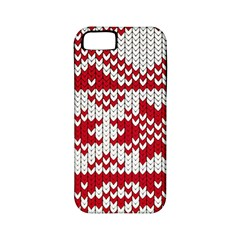 Crimson Knitting Pattern Background Vector Apple Iphone 5 Classic Hardshell Case (pc+silicone)