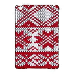 Crimson Knitting Pattern Background Vector Apple Ipad Mini Hardshell Case (compatible With Smart Cover) by BangZart