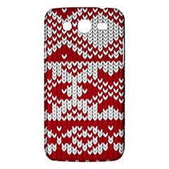 Crimson Knitting Pattern Background Vector Samsung Galaxy Mega 5 8 I9152 Hardshell Case  by BangZart