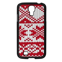 Crimson Knitting Pattern Background Vector Samsung Galaxy S4 I9500/ I9505 Case (black)
