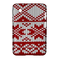 Crimson Knitting Pattern Background Vector Samsung Galaxy Tab 2 (7 ) P3100 Hardshell Case  by BangZart