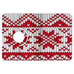 Crimson Knitting Pattern Background Vector Kindle Fire Hdx Flip 360 Case by BangZart