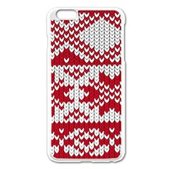 Crimson Knitting Pattern Background Vector Apple Iphone 6 Plus/6s Plus Enamel White Case