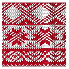Crimson Knitting Pattern Background Vector Large Satin Scarf (square)