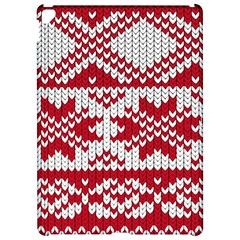 Crimson Knitting Pattern Background Vector Apple Ipad Pro 12 9   Hardshell Case