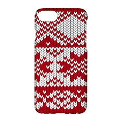 Crimson Knitting Pattern Background Vector Apple Iphone 7 Hardshell Case
