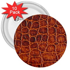 Crocodile Skin Texture 3  Buttons (10 Pack)  by BangZart