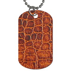 Crocodile Skin Texture Dog Tag (two Sides) by BangZart