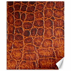 Crocodile Skin Texture Canvas 8  X 10  by BangZart