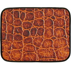 Crocodile Skin Texture Double Sided Fleece Blanket (mini)  by BangZart