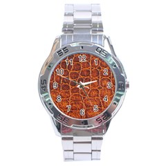Crocodile Skin Texture Stainless Steel Analogue Watch by BangZart