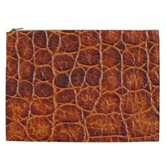 Crocodile Skin Texture Cosmetic Bag (xxl)  by BangZart