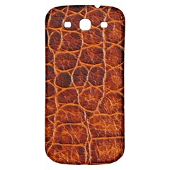 Crocodile Skin Texture Samsung Galaxy S3 S Iii Classic Hardshell Back Case by BangZart